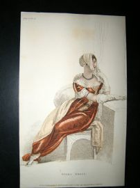 Ackermann 1809 Regency Fashion Print. Opera Dress